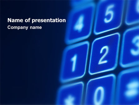 Telecommunication: Touchpad PowerPoint Template #02667