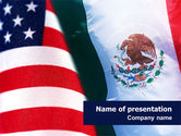 Flags/International: Mexico and USA PowerPoint Template #02668
