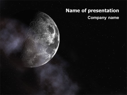 Moon PowerPoint Template, 02670, Nature & Environment — PoweredTemplate.com