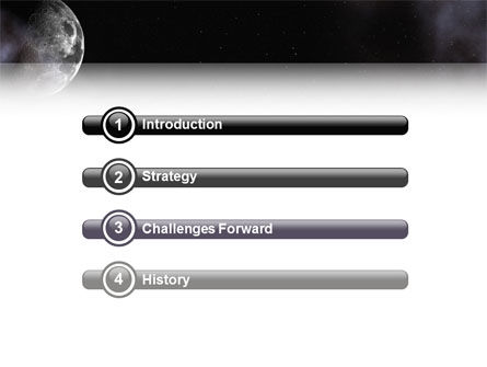 Moon PowerPoint Template, Slide 3, 02670, Nature & Environment — PoweredTemplate.com