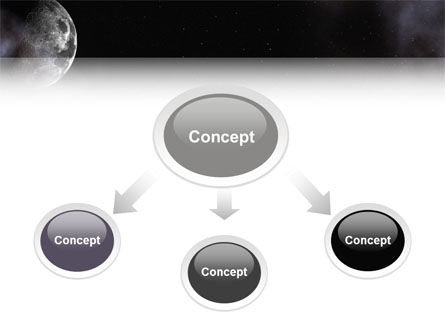 Moon PowerPoint Template, Slide 4, 02670, Nature & Environment — PoweredTemplate.com