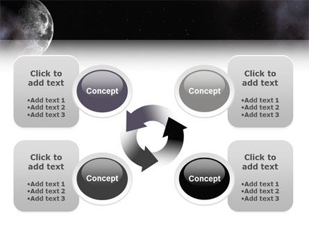 Moon PowerPoint Template Slide 9