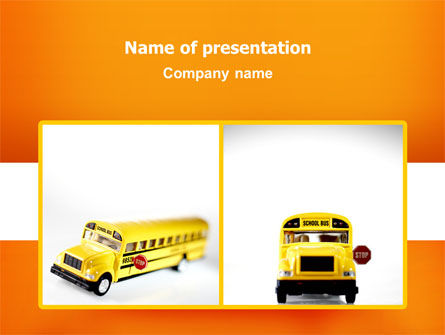 Cars and Transportation: Plantilla de PowerPoint - modelo de autobús escolar #02672