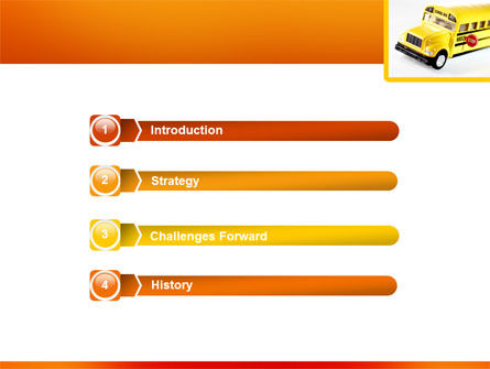 School Bus Model PowerPoint Template, Slide 3, 02672, Cars and Transportation — PoweredTemplate.com