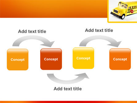 School Bus Model PowerPoint Template, Slide 4, 02672, Cars and Transportation — PoweredTemplate.com