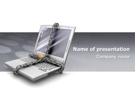 Computers: Information Security PowerPoint Template #02673