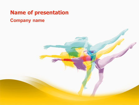 Magic of Artistic Gymnastics PowerPoint Template, 02676, Sports — PoweredTemplate.com
