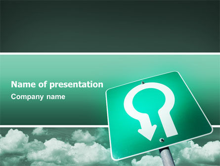 U Turn PowerPoint Template