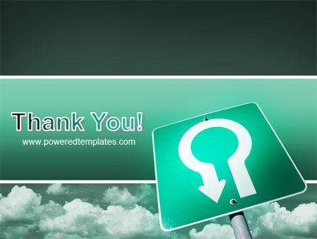 U Turn PowerPoint Template Slide 20