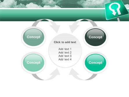 U Turn PowerPoint Template Slide 6