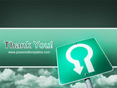 U Turn PowerPoint Template#20