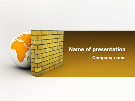 Firewall PowerPoint Template, 02681, Global — PoweredTemplate.com