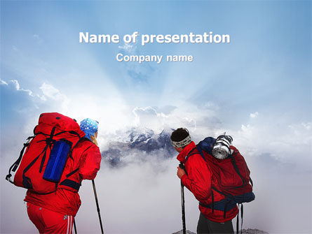 Alpinist PowerPoint Template, 02682, Sports — PoweredTemplate.com