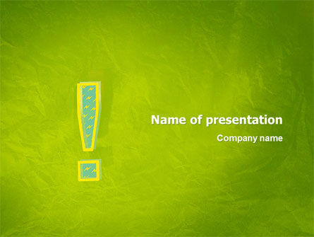 Exclamation Mark PowerPoint Template, 02683, Abstract/Textures — PoweredTemplate.com