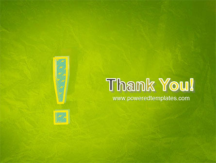 Exclamation Mark PowerPoint Template Slide 20