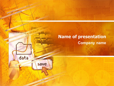 Technology and Science: Data Saving PowerPoint Template #02685