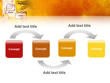 Data Saving PowerPoint Template, Slide 4, 02685, Technology and Science — PoweredTemplate.com