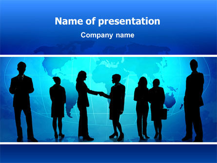 Contracting People PowerPoint Template, 02686, People — PoweredTemplate.com
