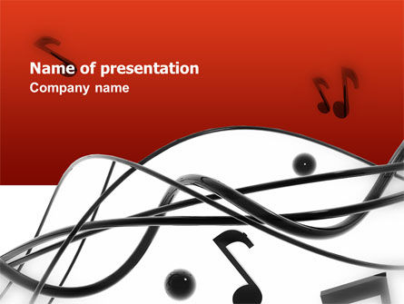 Art & Entertainment: Templat PowerPoint Musik #02687