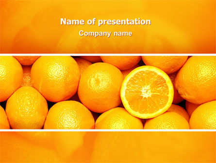 Oranges PowerPoint Template, 02688, Food & Beverage — PoweredTemplate.com