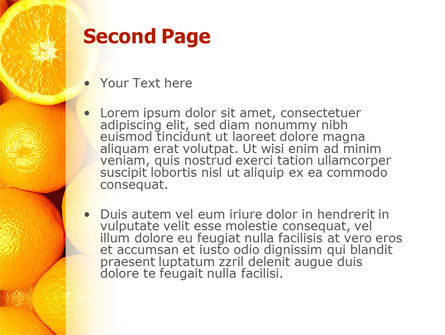 Oranges PowerPoint Template, Slide 2, 02688, Food & Beverage — PoweredTemplate.com