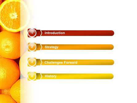 Oranges PowerPoint Template, Slide 3, 02688, Food & Beverage — PoweredTemplate.com