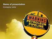 Nature & Environment: Petroleum Pipeline PowerPoint Template #02691