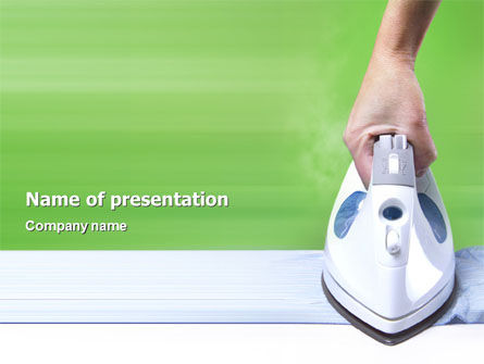 Technology and Science: Ironing PowerPoint Template #02697