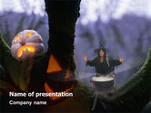 Holiday/Special Occasion: Witch Free PowerPoint Template #02698