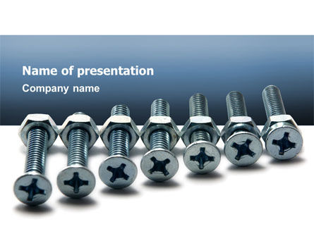 Screw-Nut and Bolt PowerPoint Template, 02703, Utilities/Industrial — PoweredTemplate.com