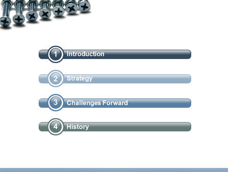Screw-Nut and Bolt PowerPoint Template, Slide 3, 02703, Utilities/Industrial — PoweredTemplate.com