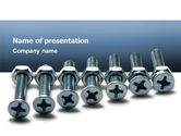 Utilities/Industrial: Screw-Nut and Bolt PowerPoint Template #02703