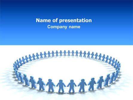 Round Dance PowerPoint Template, 02707, People — PoweredTemplate.com