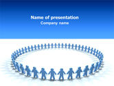 People: Round Dance PowerPoint Template #02707