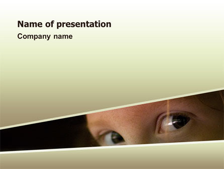children's eyes PowerPoint Template, 02708, Business — PoweredTemplate.com