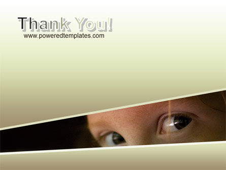 children's eyes PowerPoint Template Slide 20