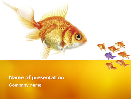 Nature & Environment: Goldfish PowerPoint Template #02710