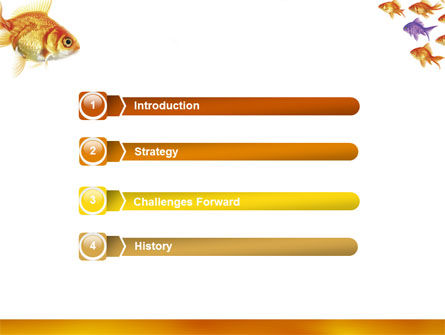 Goldfish PowerPoint Template, Slide 3, 02710, Nature & Environment — PoweredTemplate.com