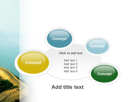 Fragment Of Great Wall of China PowerPoint Template Slide 16