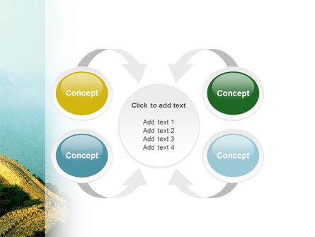 Fragment Of Great Wall of China PowerPoint Template Slide 6