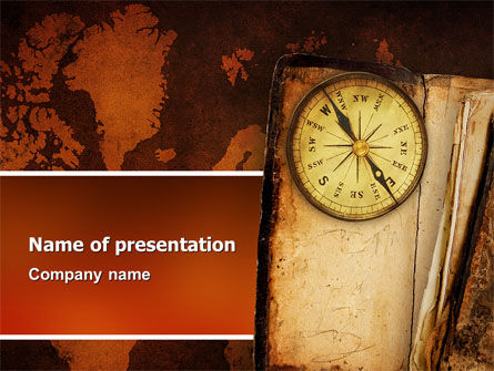 Global: Oud Kompas PowerPoint Template #02716
