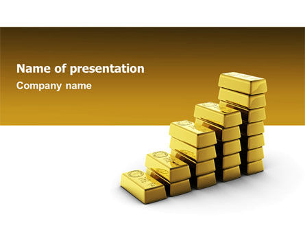 Gold Reserves PowerPoint Template, 02717, Financial/Accounting — PoweredTemplate.com