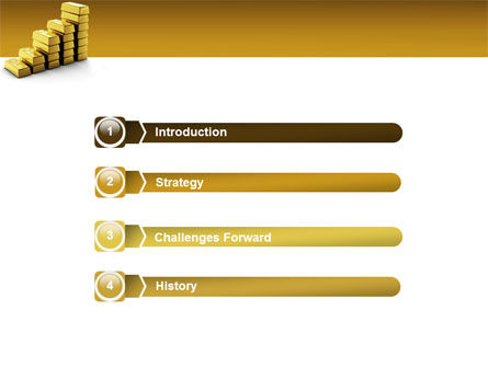 Gold Reserves PowerPoint Template, Slide 3, 02717, Financial/Accounting — PoweredTemplate.com