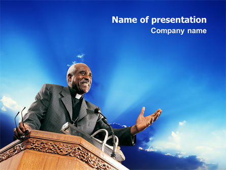 Religious/Spiritual: Preacher PowerPoint Template #02719