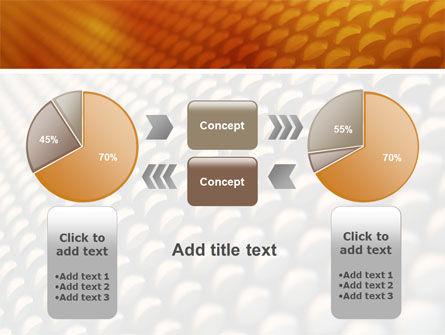 Gray- Orange Grid PowerPoint Template Slide 11