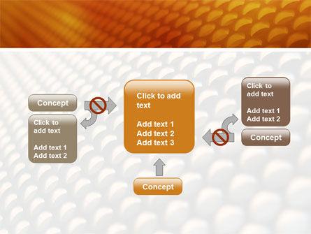 Gray- Orange Grid PowerPoint Template Slide 13