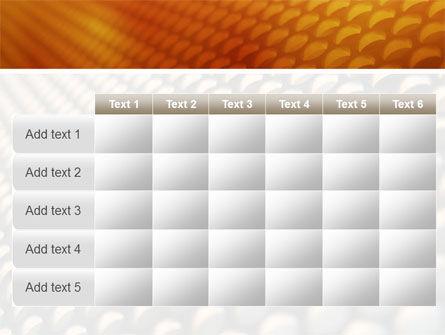 Gray- Orange Grid PowerPoint Template Slide 15