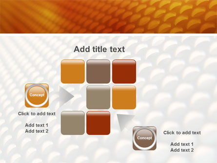 Gray- Orange Grid PowerPoint Template Slide 16