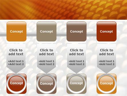 Gray- Orange Grid PowerPoint Template Slide 18