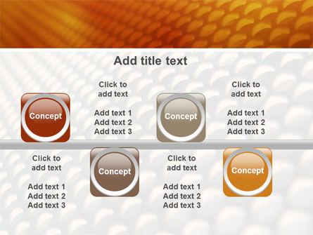 Gray- Orange Grid PowerPoint Template Slide 19